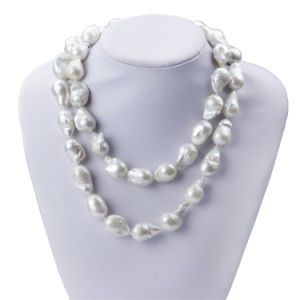 15mm 90cm Long Nucleated Pearl Necklace for Women