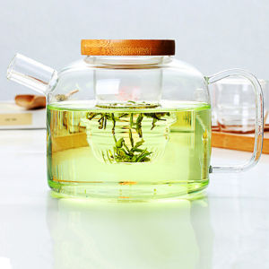 Classical Design Tea Pot Glass Kettle Cool Water Kettle with Lid 750ml pictures & photos
