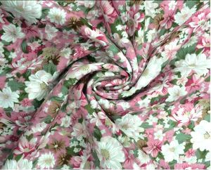 60s Floral Printing Fabric for Women Clothing pictures & photos