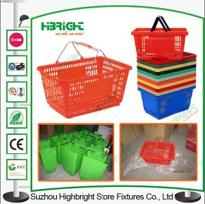 Grocery Shopping Basket Plastic Basket for Supermarket pictures & photos