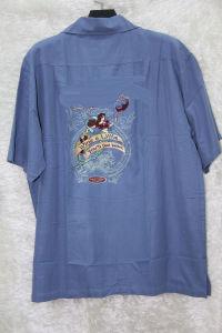 100% Silk Back Embroidery Shirt