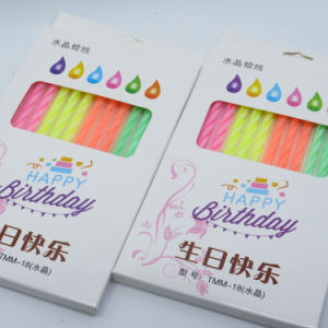 Non-Rotate Lotus Happy Birthday Candle pictures & photos