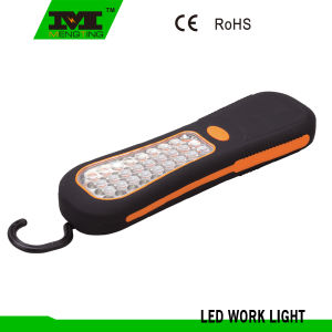 Portable Rubber Finished 24 LED Book Light with Hook and Magnet