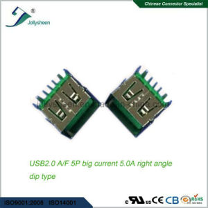 USB2.0 a/F 5p Big Current 5A Right Angle DIP Type   No Curling pictures & photos
