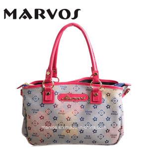 China Supplier Leather Handbags Fabric Handbags (M10115)