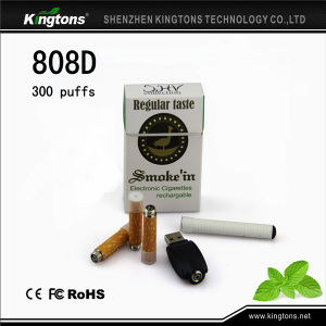 Most Popular E-Cigarette 808d E Cigarette with Refillable Battery Vapor pictures & photos