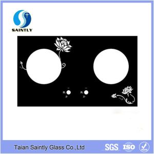 4mm 5mm 6mm Tempered Glass Panel for Gas Stove with Silk Screen Printing pictures & photos