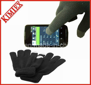 Customized Winter Knitted Acrylic Magic Texting Screen Touch Glove pictures & photos