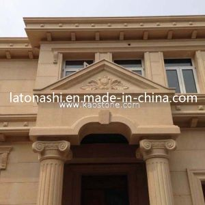 Natural Moca Gold / Beige Limestone Exterior Stone Wall Tile pictures & photos