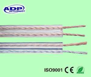PVC Insulation Flexible Parallel Wire Transparent H03vh-H Speaker Cable 2c*0.5mm2~4.0mm2 pictures & photos