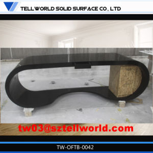 Acrylic Solid Surface Goggle Office Table Design for Sale pictures & photos