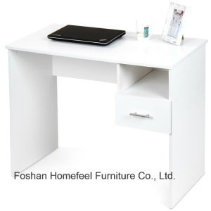 Simple Wooden White Study Computer Laptop Desk with Drawer pictures & photos