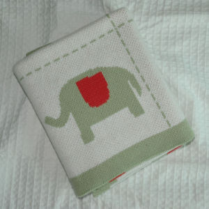 Soft Cotton Knitted Baby Blanket pictures & photos