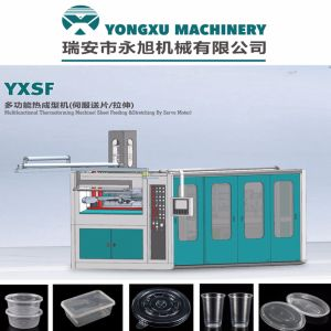 Disposable Plastic Cup Thermoforming Machine, Automatic Hydraulic Thermoforming Machine, Plastic Cup Making Machine, Servo Driven Plastic Cup Machine (YXSF) pictures & photos
