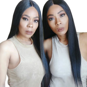"Lace Front Human Hair Wigs Silk Straight 250% Density Pre Plucked Natural Hairline with Baby Hair Remy Hair 22"" pictures & photos"