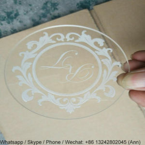 Customized Acrylic Coaster with Laser Engraved Logo pictures & photos