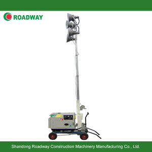 Generator Set Petrol Lighting Tower, 4X400W Hand Push Light Tower pictures & photos