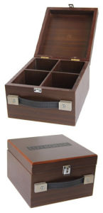 Square Wooden Jewelry Storage Box with Handle pictures & photos