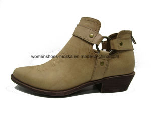 Chunky Heel Wholesale Women Fashion Ankle Boots for Shopping pictures & photos