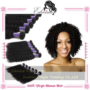 Indian Virgin Human Hair Kinky Wave 100% Remy Human Hair Extension