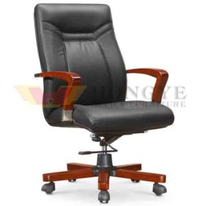 Wooden Black Leather Boss Executive Office Chair for Office Furniture pictures & photos