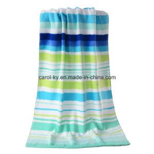 Color Stripe Cotton Velvet Beach Towel pictures & photos