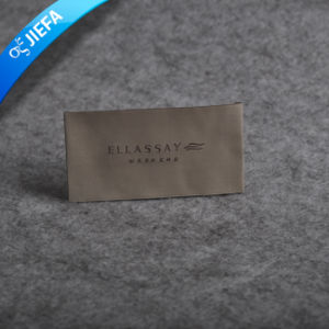 New Custom Washable Women′s Clothing Woven Collar Label pictures & photos