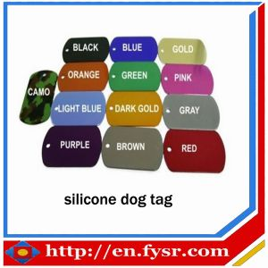 2012 Colorful Silicone Dog Tag (FY-SDT003)