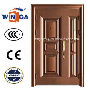 One and Half Doorleaf Opening Secuirty Steel Copper Door (W-STZ-01) pictures & photos