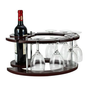 Fashion Creative Red Wine Rack Imitating Padauk Wine Rack/Holder pictures & photos