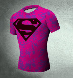 Men′s Tights Pink Super Man Sport T-Shirt Dress