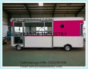Electric Street Hot Dog Cart Lunchfood Kiosk with Awnings Made in China pictures & photos