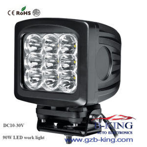 New 10-30V 90W (10W*9PCS) CREE (XML) LED Work Light pictures & photos