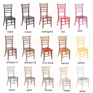 Gold Color Stackable Solid Wood Chiavari Ballroom Party Events Chair pictures & photos