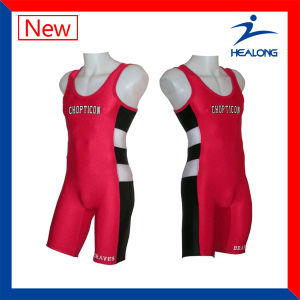 Cool Sublimation Mens Wrestling Gear Singlets pictures & photos