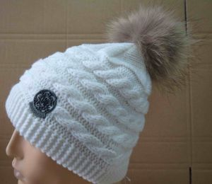 SGS Fshion Knitted Hat Girls Hat with Fake Pompom (TWS-knit-014031)
