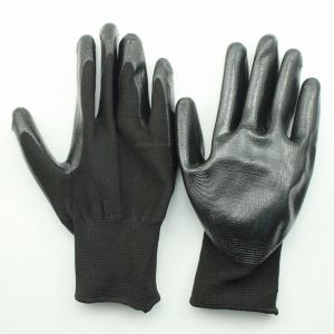 Nitrile Coated Palm Cotton Gloves pictures & photos