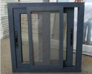 Grey Aluminium Sliding Window with Sliding Sash (BHA-SW31) pictures & photos