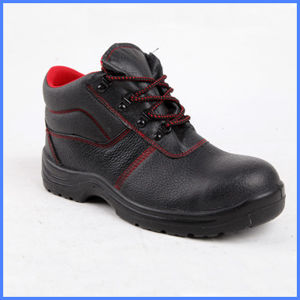 PU Waterproof Emossed Leather Safety Shoes pictures & photos
