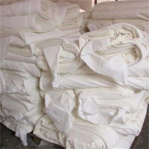 Factory Stock White Grey Rayon Fabric for Printing pictures & photos