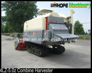 4lz-5.0 1800L Rice Tank Rubber Crawler Combine for Rice Wheat Rape Seed pictures & photos