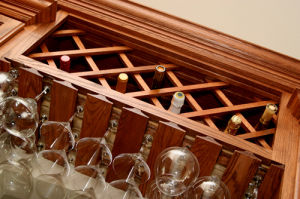 2015 Bck Newest White Paintting Us Red Oak Wine Cabinet C-1 pictures & photos