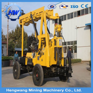 Full Hydraulic Trailer Mounted Rock Diesel Engine Drilling Rig pictures & photos