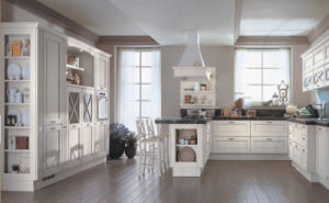America Style Solid Wood Kitchen Cabinet for Villa (Br-SA02c) pictures & photos