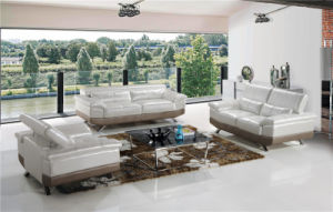 Modern Leather Sofa Siliver Color for Home Used pictures & photos