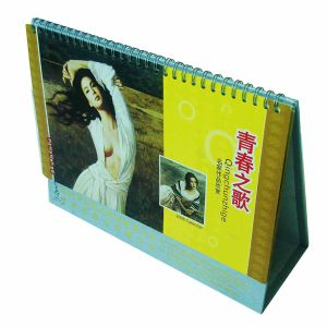 Delicate Office Decoration Calendar Printing Hot Stamping pictures & photos