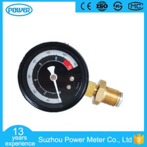 60mm Black Dial Plate Brass Connection Manometer with Ce Certificate pictures & photos