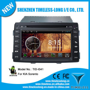 Android System 2 DIN Car DVD for KIA Sorento 2009-2012 with GPS iPod DVR Digital TV Box Bt Radio 3G/WiFi (TID-I041)