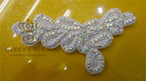 New Fashion Rhinestone Sew on Appliques for Women Wedding Dress pictures & photos