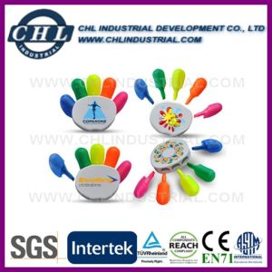 Promotional SGS Certified Hand Shape Highlighter Marker with Logo Printed pictures & photos